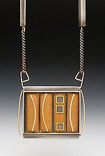 3 Square 4 Bar Necklace by Eileen Sutton (Gold, Silver & Resin Necklace)