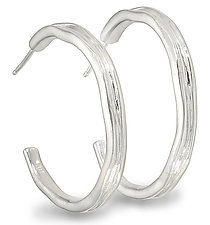 Silver Water Hoops by Diana Widman (Silver Earrings)