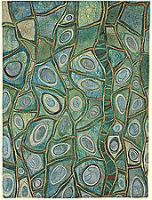 Roots of Rhythm VI by Karen Kamenetzky (Fiber Wall Hanging)