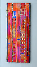 Fruit Red Wall Panel by Mark Ditzler (Art Glass Wall Sculpture)