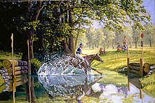 The Water Jump by Werner Rentsch (Oil Painting)