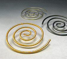 Spiral Pins by Emanuela Aureli (Gold & Silver Pin)