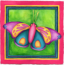 Butterfly No. 11 by Rachel Tribble (Watercolor Painting & Giclee Print)