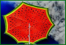 Watermelon Sky by Maurine Sutter (Color Photograph)