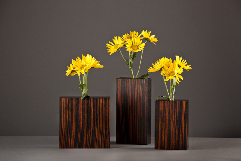 Macassar Ebony Bud Vases By David Kiernan Wood Vase Artful Home