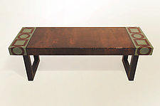 Sienna Stain Bench by Lara Moore (Mixed Media Bench)