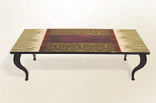 Plumstain Bench by Lara Moore (Mixed Media Coffee Table)