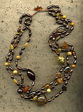 Bronze Glow by Diana Lovett (Beaded Necklace)