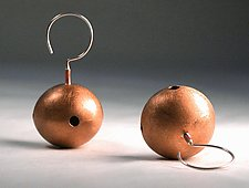 Big Ball Earrings by Emanuela Aureli (Silver or Copper Earrings)