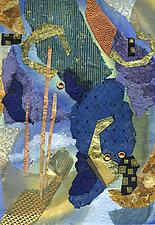 Golden Surprise by Susan Adame (Mixed-Media Wall Art)