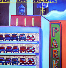 Parking Garage III by Jason Watts (Oil Painting)