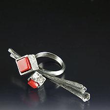 Cubeberry Ring by Aleksandra Vali (Silver & Stone Ring)