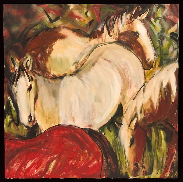Horses, Red Cream and Rust