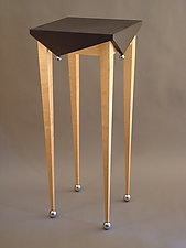 Square Jester Table by Tim Wells (Wood Side Table)