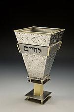 L'Chaim Kiddush Cup by Joy Stember (Metal Kiddush Cup)