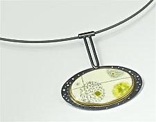 Yuragi Necklace by Reiko Miyagi (Silver & Enamel Necklace)