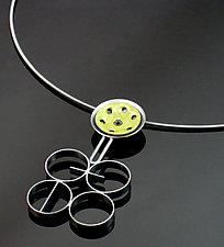 Gear Movement Necklace by Reiko Miyagi (Silver & Enamel Necklace)