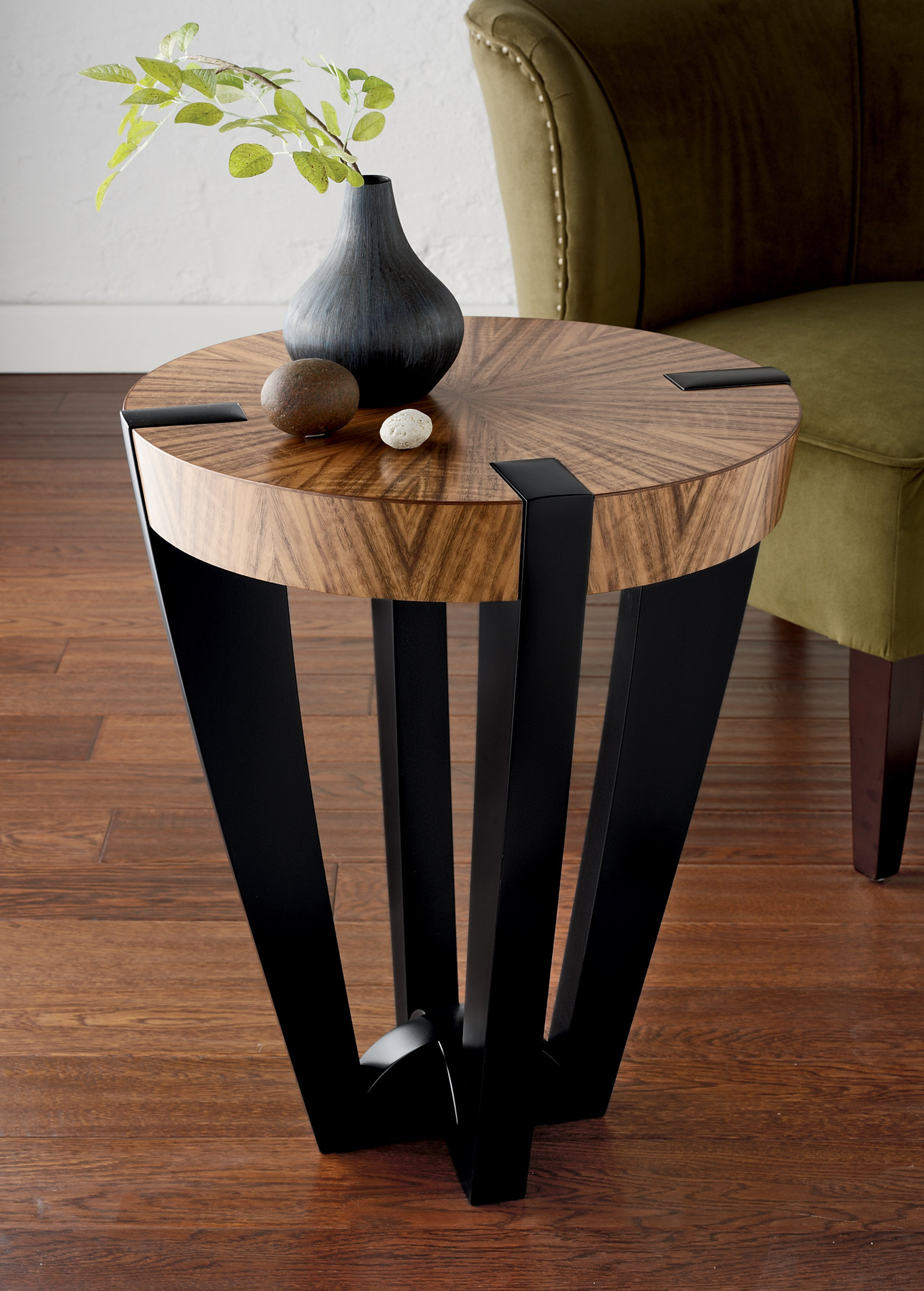 Compass Side Table By Enrico Konig Wood Side Table