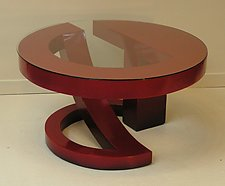 Red Coffee Table 2 by John Wilbar (Wood Coffee Table)