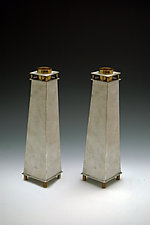 Tall Tapered Candle Holders by Joy Stember (Metal Candleholders)