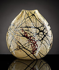 Cherry Blossom Flat Vase by Bryce Dimitruk (Art Glass Vase)