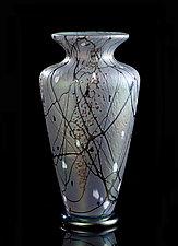 Silver Lavender Traditional Vase by Bryce Dimitruk (Art Glass Vase)