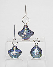 Blue Wisteria Perfume Bottle by Bryce Dimitruk (Art Glass Perfume Bottle)