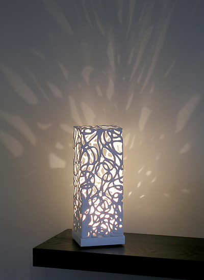 Curls Mini Luminaire By Muhammad Moussa Ceramic Table