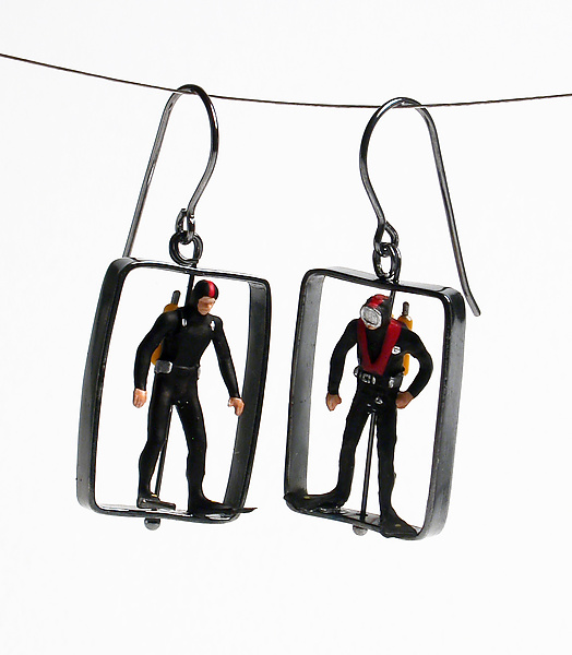 Scuba Diver Earrings