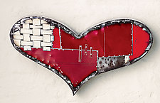 Chubby Heart by Anthony Hansen (Metal Wall Art)