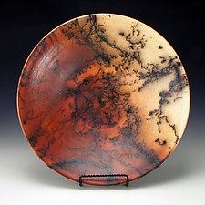 Large Horse Hair Bowl by Lance Timco (Ceramic Bowl)