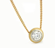 Simplicity Pendant in 18k with Diamond by Catherine Iskiw (Gold & Stone Necklace)