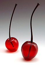 Cherry Perfume Bottle by Garrett Keisling (Art Glass Perfume Bottle)