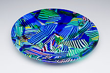 Random Acts of Color: Blue by James Nevitt (Art Glass Bowl)