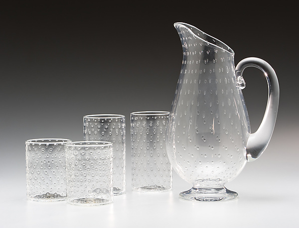 Bubble Pitcher and Glasses