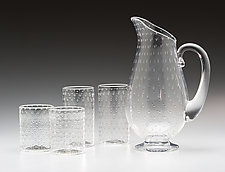Bubble Pitcher and Glasses by Kenny Pieper (Art Glassware)