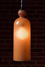 Gold Reticello Cylinder by Kenny Pieper (Art Glass Pendant Lamp)