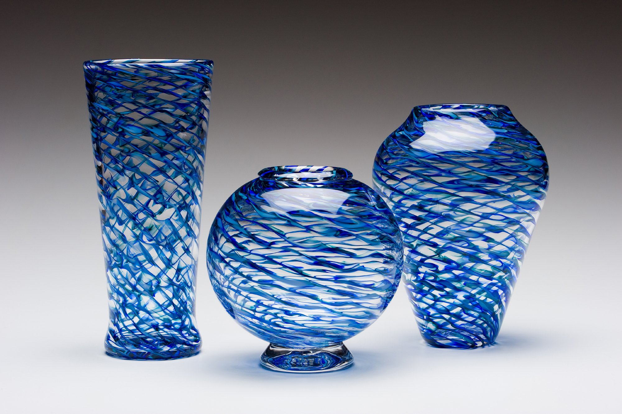 ripple vases by kenny pieper art glass vase artful home. Black Bedroom Furniture Sets. Home Design Ideas