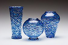 Ripple Vases by Kenny Pieper (Art Glass Vase)