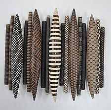 Domestic Markings 17 by Kelly Jean Ohl (Ceramic Wall Sculpture)