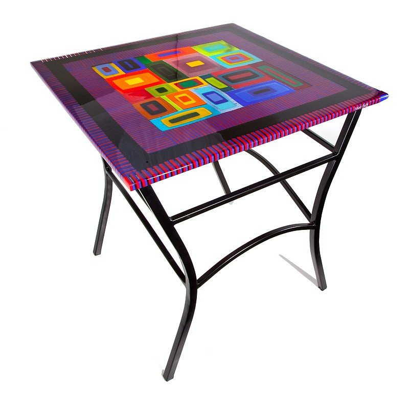 Side Table By Helen Rudy Art Glass Side Table Artful Home