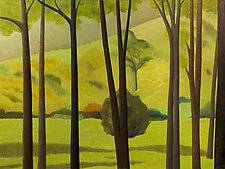 Trees and Hills by Jane Troup (Giclee Print)
