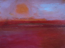 Sun and Red Field by Heidi Daub (Acrylic Painting)