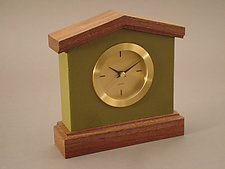 Revesby Clock by Tim Wells (Wood & Leather Clock)