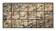 Rock Face Tile Wall by Kristi Sloniger (Ceramic Wall Sculpture)