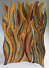 Flames of Grass by Ingela Noren and Daniel  Grant (Painted Wood Screen)