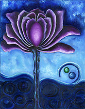 Purple Flower by Rachel Tribble (Giclee Print)