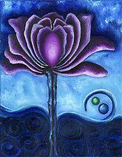 Purple Flower by Rachel Tribble (Giclee Print)