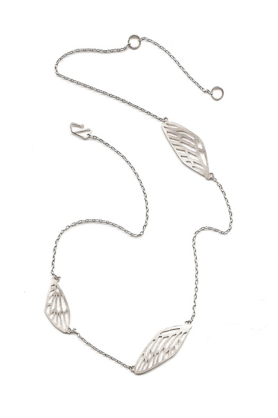 Cicada Wing Necklace, 3-wing