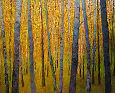 Forest Verticals by Ken Elliott (Giclee Print)